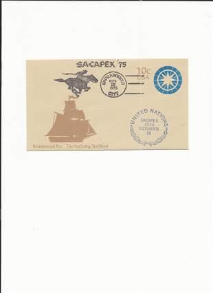 Sacapex '75 - First Day Cover - Bicentennial Era The