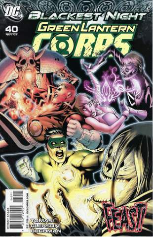 Blackest Night Green Lantern Corps DC Comic Book #40