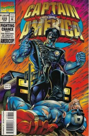Captain America Marvel Comic Book #428