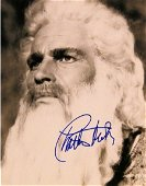 Charlton Heston signed Moses portrait photo