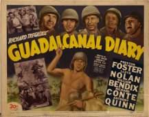 Guadalcanal Diary original 1943 vintage lobby card