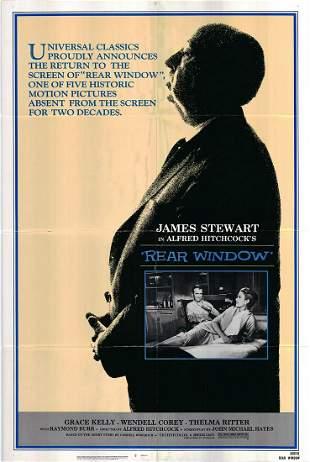 Rear Window original 1982 vintage one sheet movie