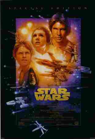 Star Wars original 1993R vintage one sheet movie poster