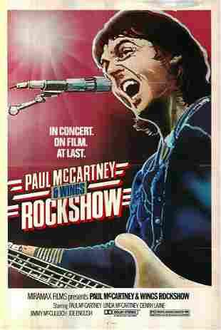 Rockshow original 1980 vintage one sheet movie poster