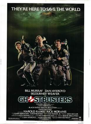 Ghostbusters original 1984 vintage one sheet movie