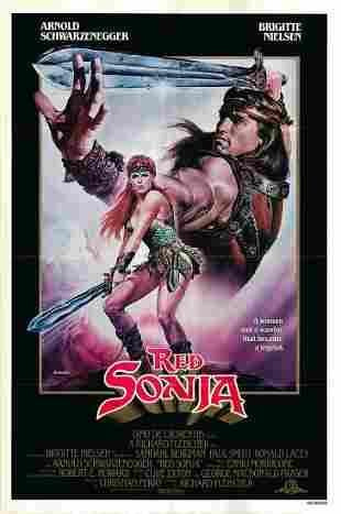 Red Sonja original 1985 vintage one sheet movie poster