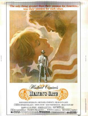 Heaven's Gate original 1980 vintage one sheet movie