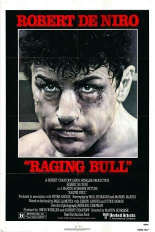 Raging Bull original 1980 vintage one sheet movie
