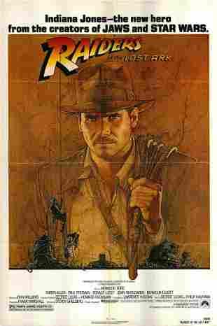 Raiders of the Lost Ark original 1981 vintage one sheet