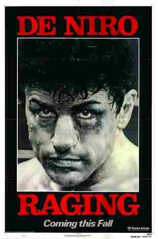 Raging Bull original 1980 vintage advance sheet movie
