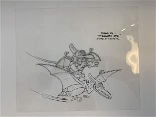 The Flintstones original hand drawn artwork for cartoon