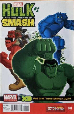 Hulk And The Agents Of S.M.A.S.H. #1 Marvel Comic Book