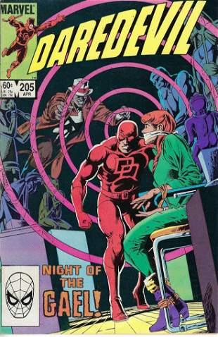 Daredevil Marvel Comic Book #205