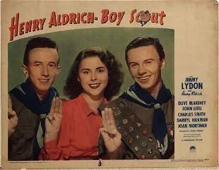 Henry Aldrich, Boy Scout original 1944 vintage lobby