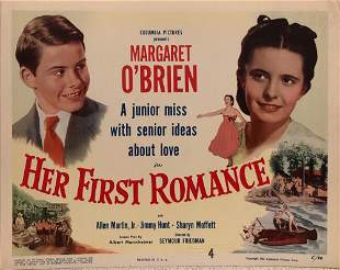 Her First Romance original 1951 vintage lobby card
