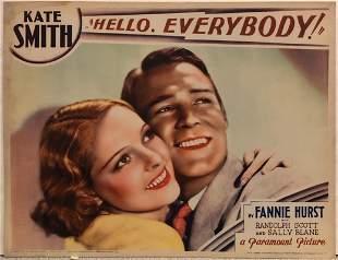 Hello, Everybody! original 1932 vintage lobby card