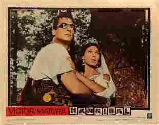 Hannibal original 1960 vintage lobby card