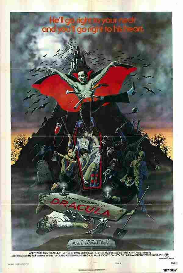 Dracula Original 1974 Vintage One Sheet Poster