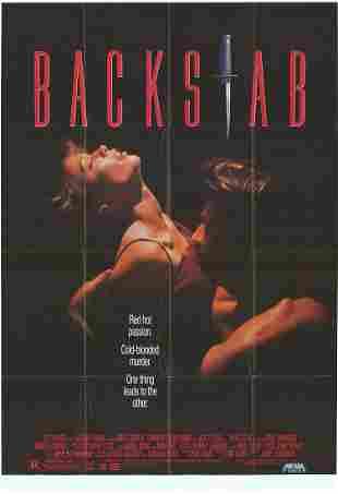 Backstab Original 1990 Vintage One Sheet Poster