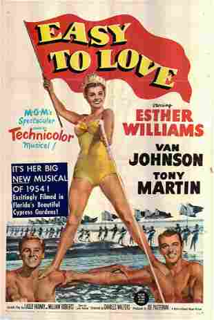 Easy to Love Original 1953 Vintage One Sheet Poster
