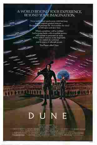 Dune Original 1984 Vintage One Sheet Poster