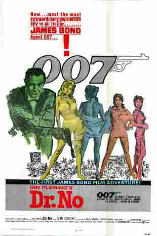 Dr. No Original 1962 Vintage Repro One Sheet Poster