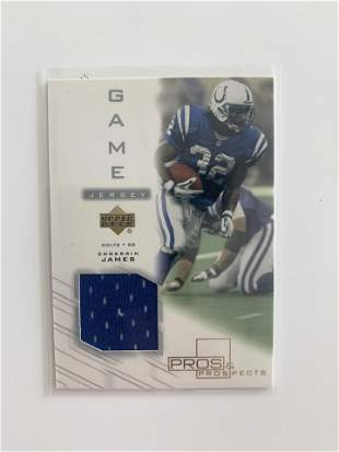 2001 UD PROS & PROSPECT GAME USED PATCH CARD #EJ-J