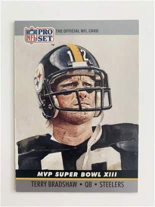 1990 NFL PRO SET MVP SUPER BOWL XIII #13 TERRY BRADSHAW