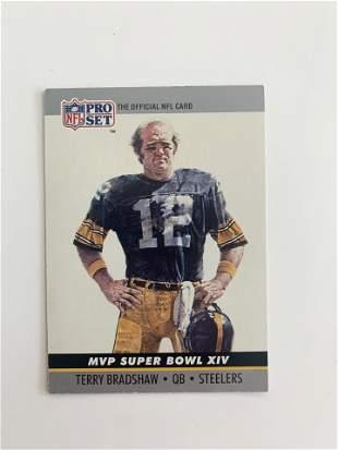 1990 NFL PRO SET MVP SUPER BOWL XIII #14 TERRY BRADSHAW