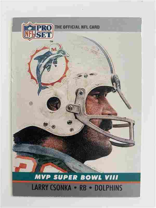1990 NFL PRO SET MVP SUPERBOWL VIII #8 LARRY CSONKA