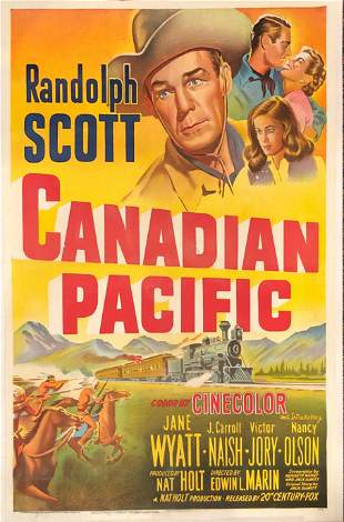 Canadian Pacific original 1949 vintage linen backed one