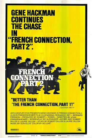 The French Connection II Original 1975 Vintage One