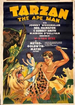 Tarzan the Apeman original 1932 vintage linen backed