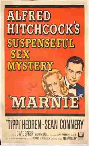 Marnie original 1964 vintage linen backed one sheet