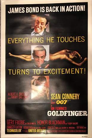 Goldfinger original 1984R vintage linen backed one