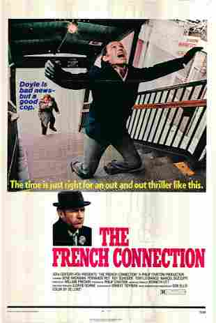 The French Connection Original 1971 Vintage One Sheet