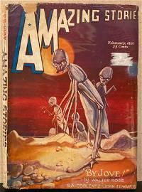 Amazing Stories February 1937 original vintage Pulp