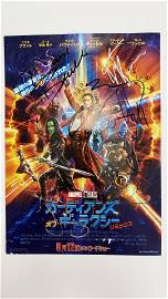 Guardians of the Galaxy 2 cast signed mini poster