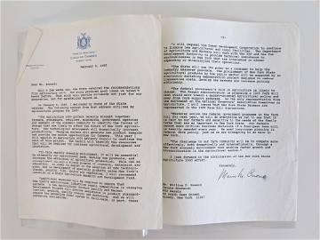 Mario Matthew Cuomo signed letter