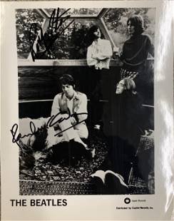 The Beatles signed photo