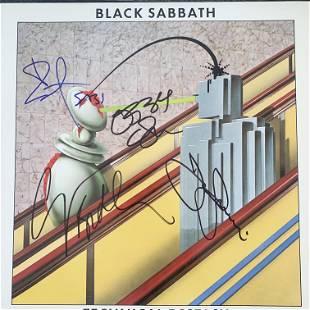 Black Sabbath Technical Ecstasy signed album