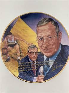John Wooden commemorative plate