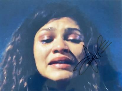 Euphoria Zendaya signed TV photo