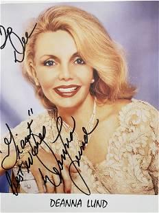Deanna Lund signed photo