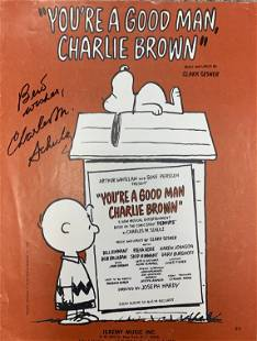 Charles Schulz You're a Good Man Charlie Brown signed