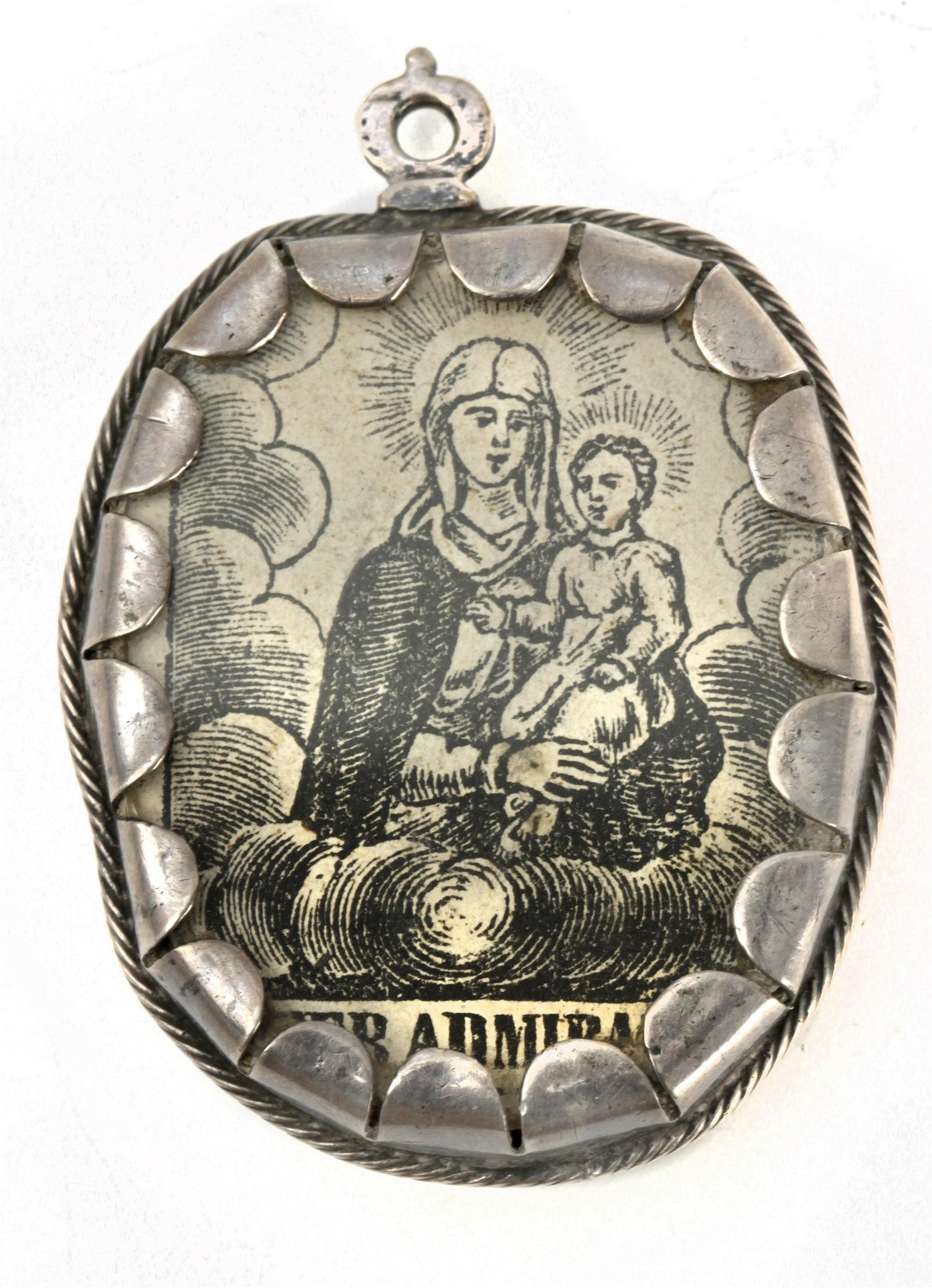 An 18th century Spanish silver reliquary pendant