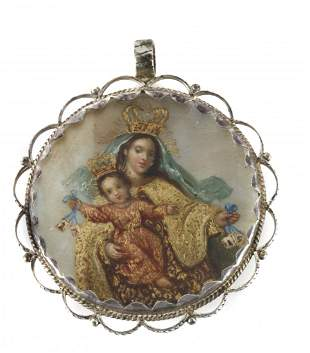 A 19th century colonial reliquary pendant in Mexican