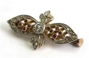 A diamond tie pin circa 1900