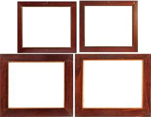 A set of four 20th century oak frames