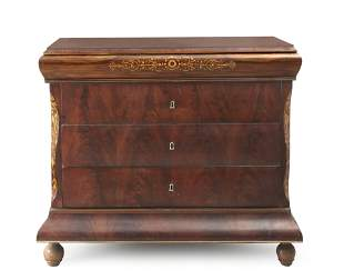 A Spanish fernandino mahogany chest of drawers circa